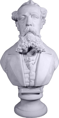 Dickens Bust Plaster Statue