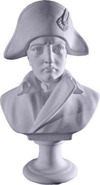 Napoleon Bust Plaster Statue