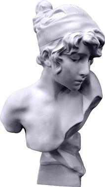 Sapho Plaster Statue