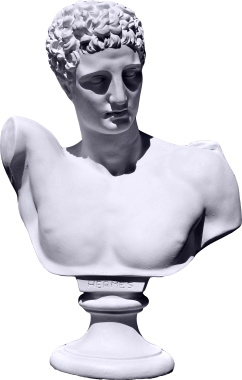 Hermes Bust XL Plaster Statue