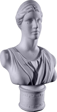 Diane Bust XS Plaster Statue