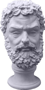 Zeus Bust Plaster Statue