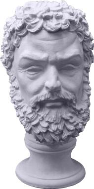 Zeus Bust Plaster Statue