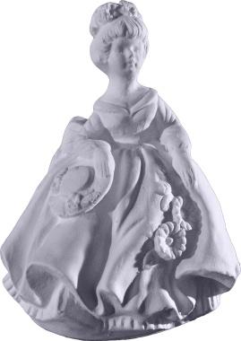 Full Skirt Doll Plaster Statue a