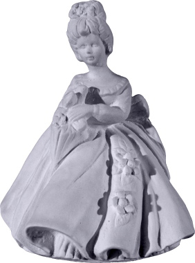 Full Skirt Doll Plaster Statue b