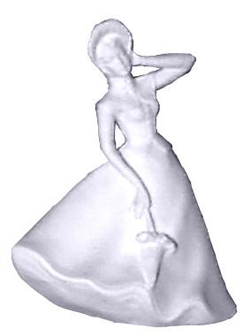 Spring Girl Plaster Statue