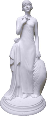 Roaring Twenties Girl Plaster Statue b