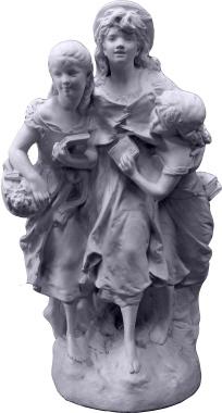 Three Sisters Plaster Statue
