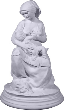 Nursing Mother Plaster Statue