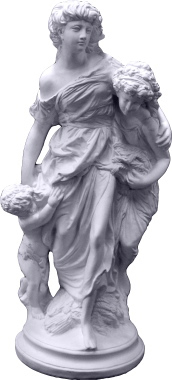 Mother and Children Plaster Statue