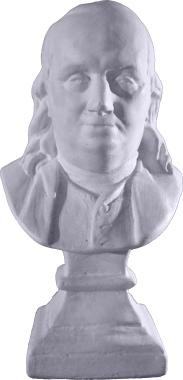 Ben Franklin Plaster Statue