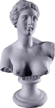 Venus Miniature Bust Plaster Statue