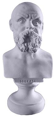 Socrates Miniature Bust Plaster Statue