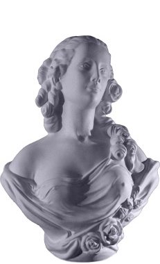 Roses Lady Bust Plaster Statue18
