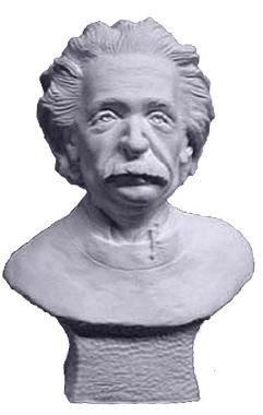 Einstein Plaster Statue