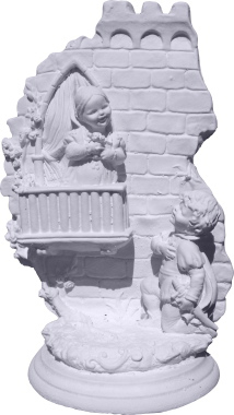 Juliet on Balcony Scene Plaster Statue