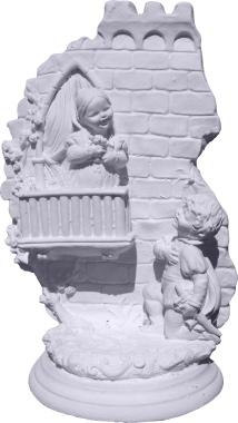 Juliet on Balcony Scene Plaster Statue