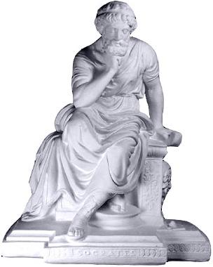 Socrates Plaster Statue