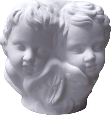 Two Sleeping Cherub Faces Vase Vs274 Plastercraft Statue