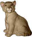 Lion Cub Seated  Statue