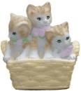 Kittens in Basket  Statue