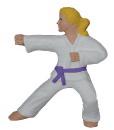 Karate Girl Plaster Plaque