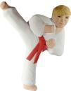 Karate Boy Kicking Plaster Plaque