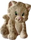 Leopard Cub Plaster Plaque