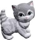 Kitten Standing Plaster Plaque