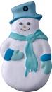 Snowman Unpainted Plaster Ornament