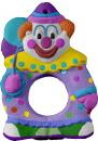 Clown Plaster Picture Frame Unpainted Plaster Ornament