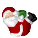 Santa with Feet Up Plaster Candleholder left