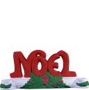 Noel Letters Plaster Candleholder