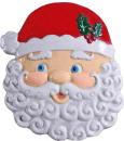 Santa Face Plaster Plaque c