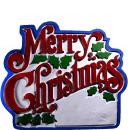 Merry Christmas Plaster Plaque