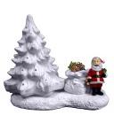Santa Tree Scene Statue