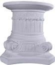 Ionic Round Top Plaster Pedestal