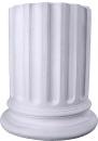 Half Column Plaster Pedestal