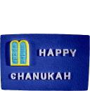 Happy Chanukah Plaster Plaque
