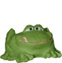 Frog Plaster Planter