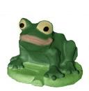 Frog on Leaf Plaster Planter