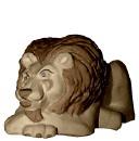 Lion Plaster Vase