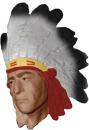 Indian Chief Plaster Plaque