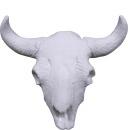 Cow skull Plaster Plaque Medium