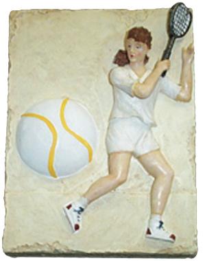 Tennis Player Plaque